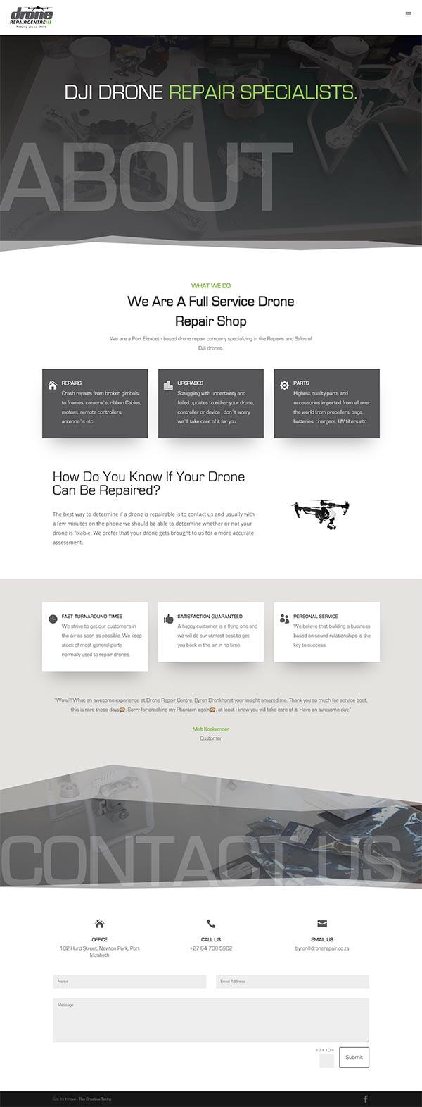 Drone Repair Website Thumbnail