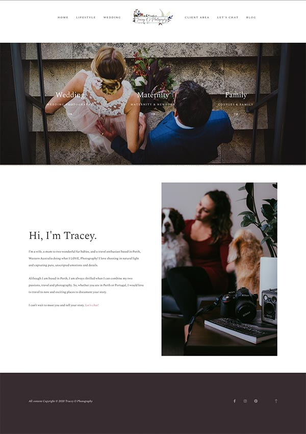 Tracey O Photography Website Thumbnail